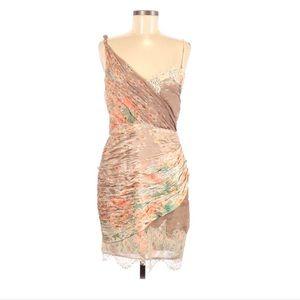 Foley + Corinna Tan Floral Print 100% Silk Dress